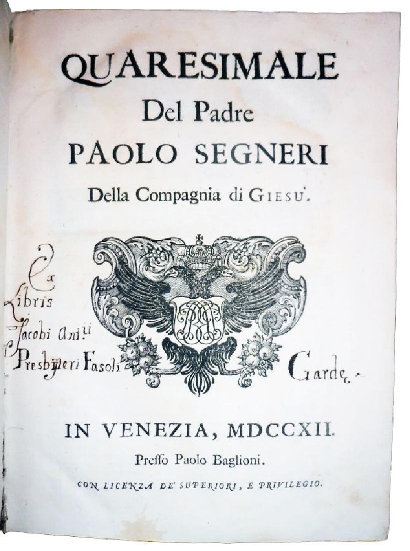 [Jesuits, Sources] Segneri, Opere, 1712 - 6