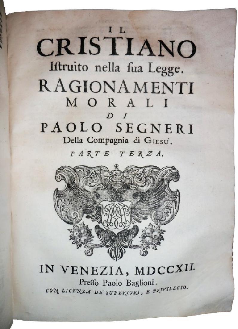 [Jesuits, Sources] Segneri, Opere, 1712 - 9
