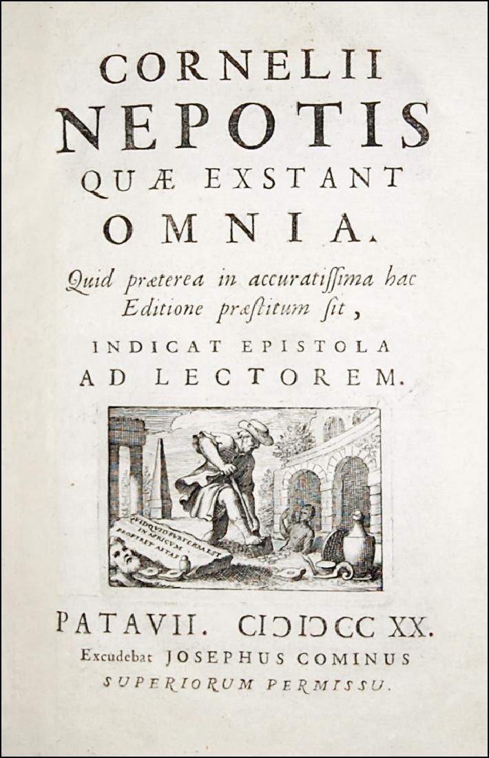 [Biographies] Nepos, Quae exstant omnia, 1720
