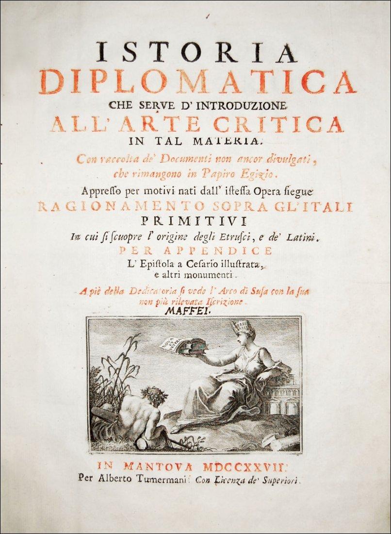 [Paleography] Maffei, Istoria diplomatica, 1727