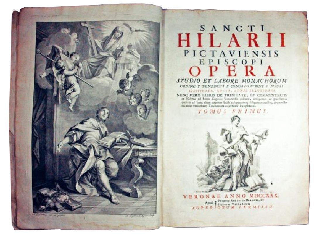[Saints' Works] St. Hilary, Opera, 1730, 2 vols - 3