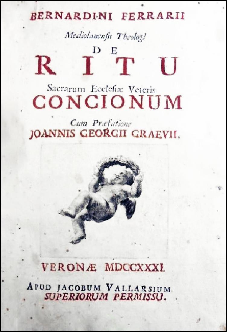 [Liturgy, Speeches] Ferrari, 1731