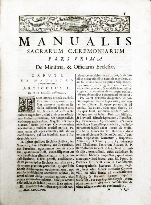 [Liturgy, Music] Bauldry, Manuale, 1734 - 2