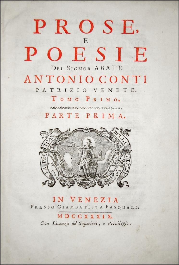 [Poetry] Conti, Prose e poesie, 1739-56, 2 vols