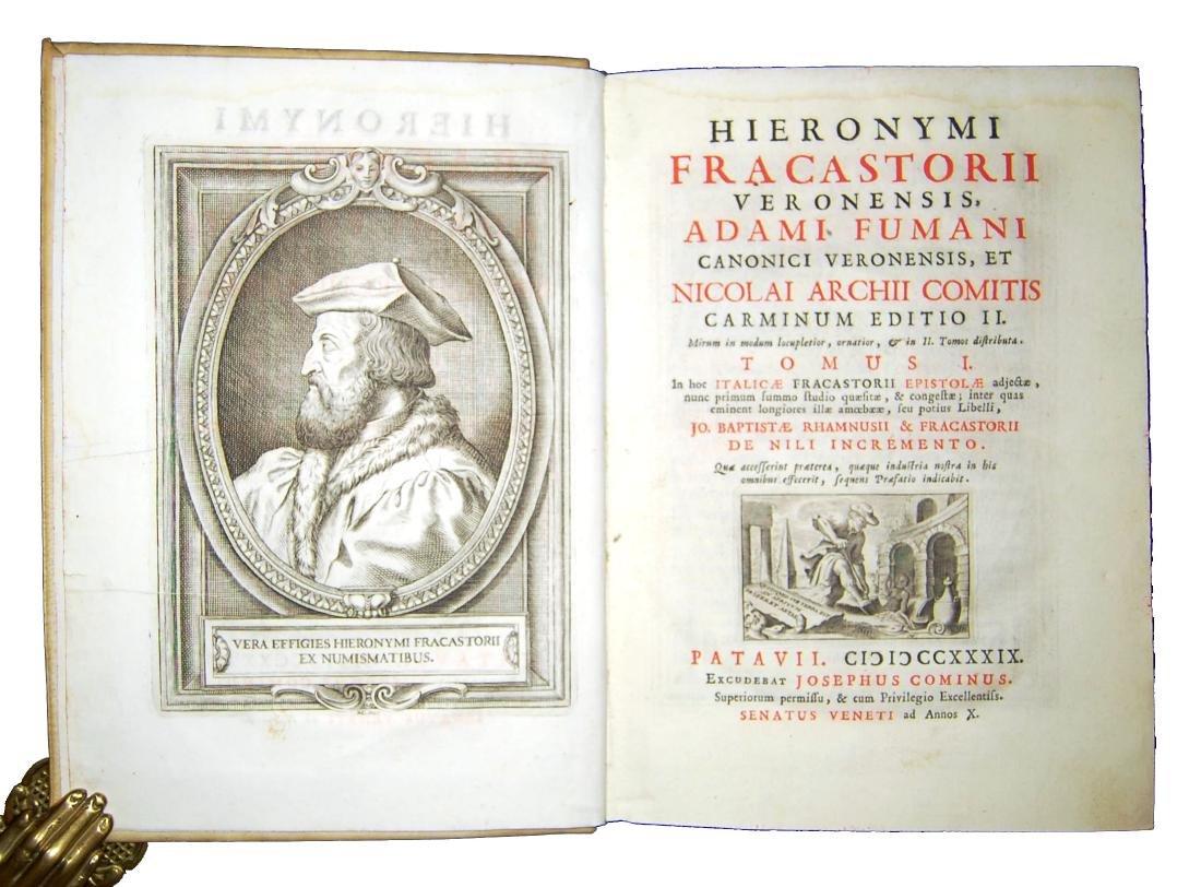 [Poetry, Syphilis] Fracastoro, Carminum, 1739, 2 v.
