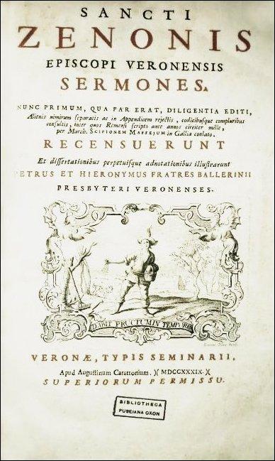 [Sermons, St. Zeno] Sermones, 1739