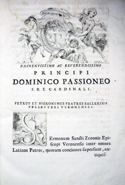 [Sermons, St. Zeno] Sermones, 1739 - 3