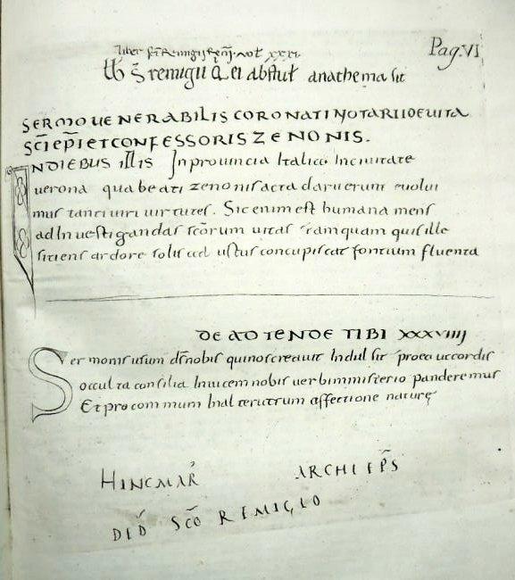 [Sermons, St. Zeno] Sermones, 1739 - 5