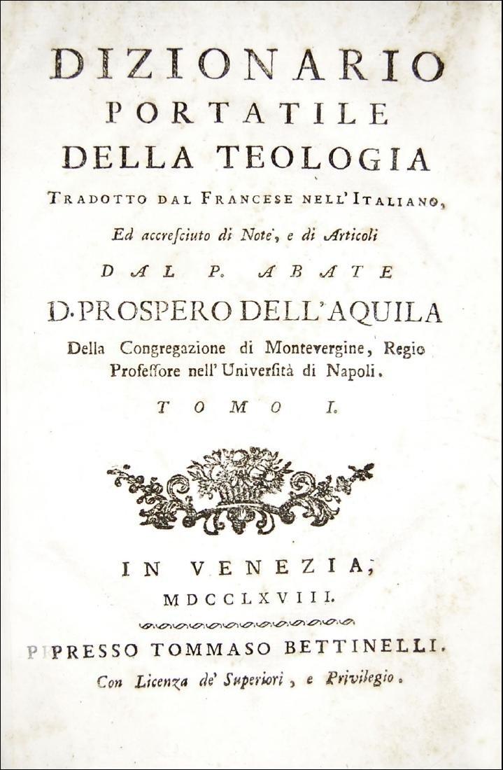 [Theology] Alletz, Dizionario portatile della teologia