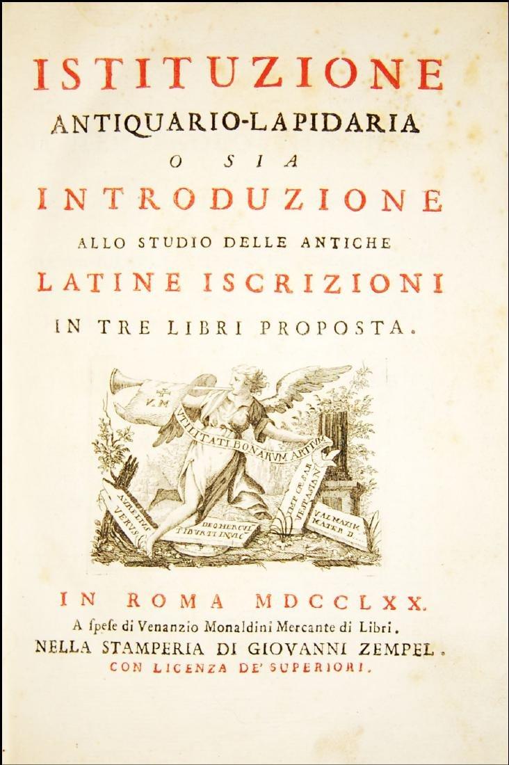 [Epigraphy] Zaccaria, Istituzione antiquario-lapidaria - 2