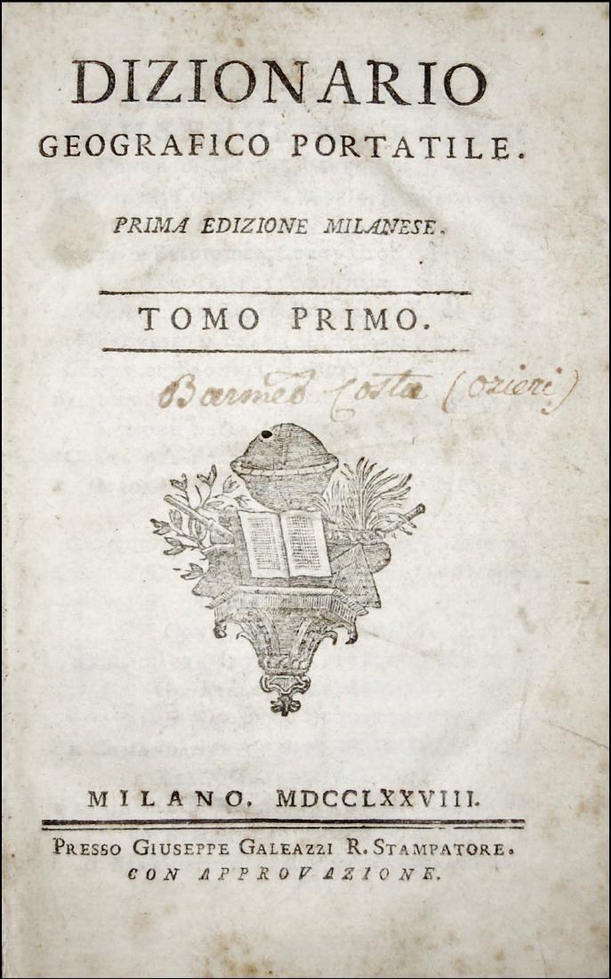 [Geography] Echard, Dizionario geografico portatile