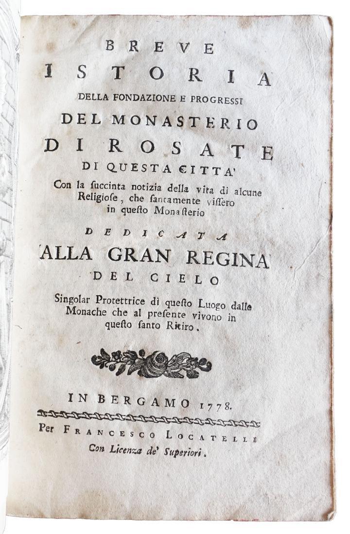[Bergamo] monasterio di Rosate, 1778