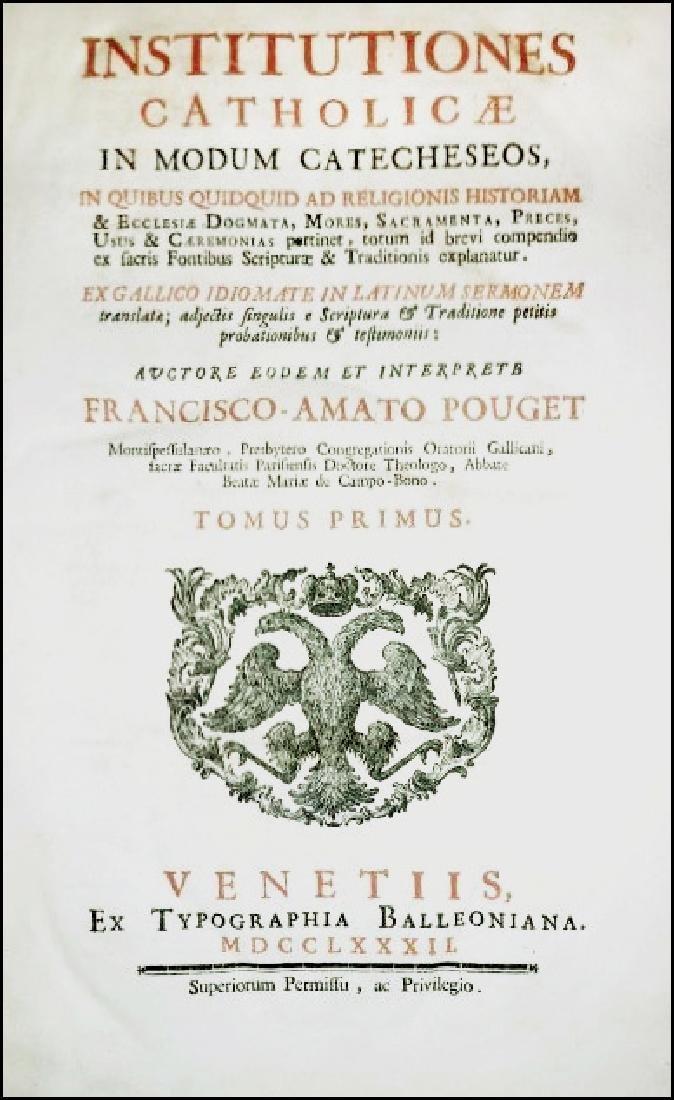 [Catholic Church, Doctrine] Pouget, 1782, 2 Folio vols - 2