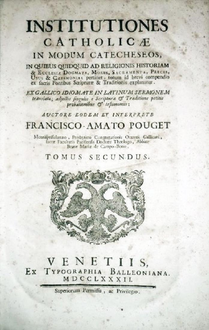 [Catholic Church, Doctrine] Pouget, 1782, 2 Folio vols - 3