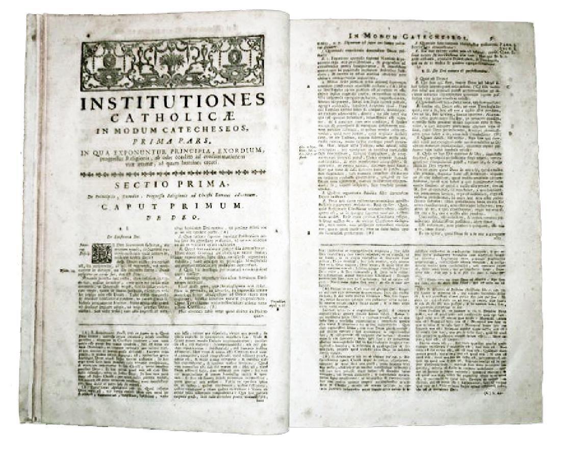[Catholic Church, Doctrine] Pouget, 1782, 2 Folio vols - 4
