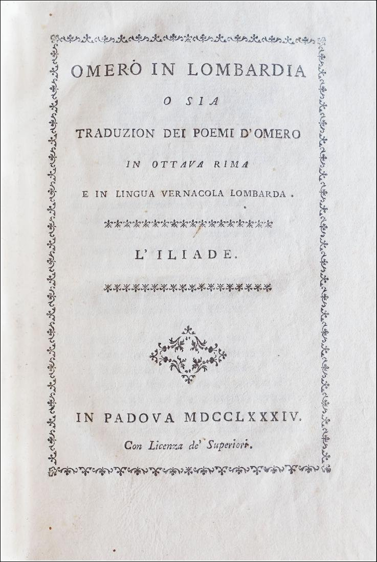 [Dialectal Poetry] Homerus, Omero in Lombardia, 1784