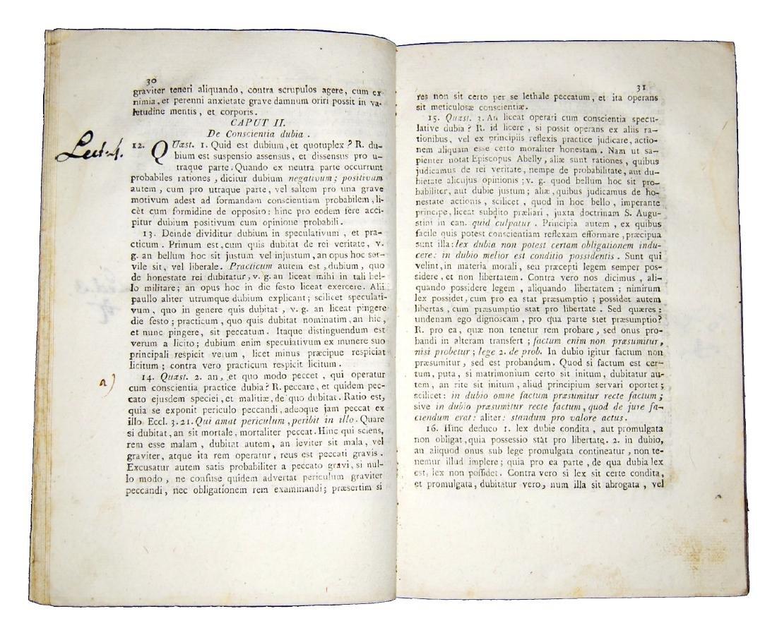 [Theology, Ethics] De Liguori, Theologia moralis, 1789 - 2