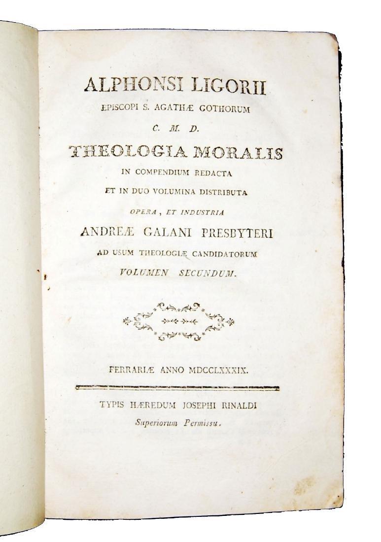 [Theology, Ethics] De Liguori, Theologia moralis, 1789 - 4