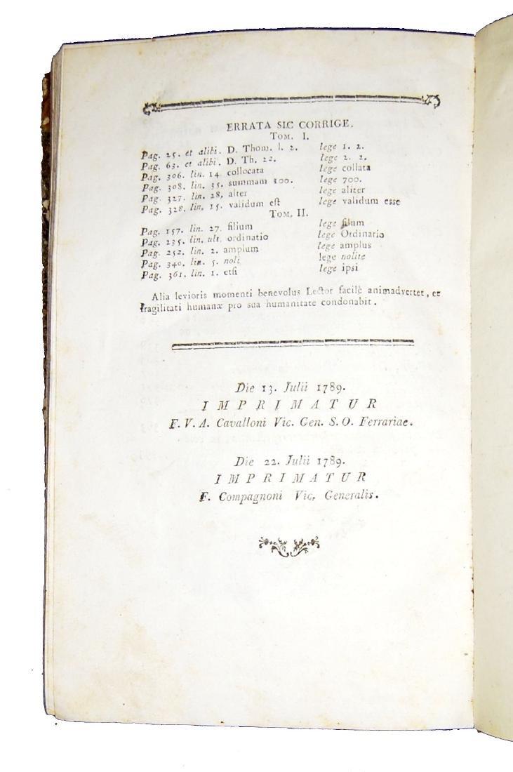 [Theology, Ethics] De Liguori, Theologia moralis, 1789 - 5