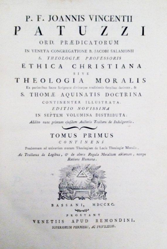 [Theology, Remondini] Patuzzi, 1790, 7 vols - 2