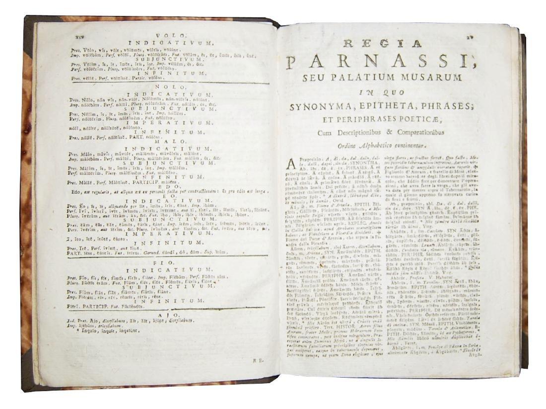 [Poetry, Dictionaries] Regia Parnassi, 1791 - 3