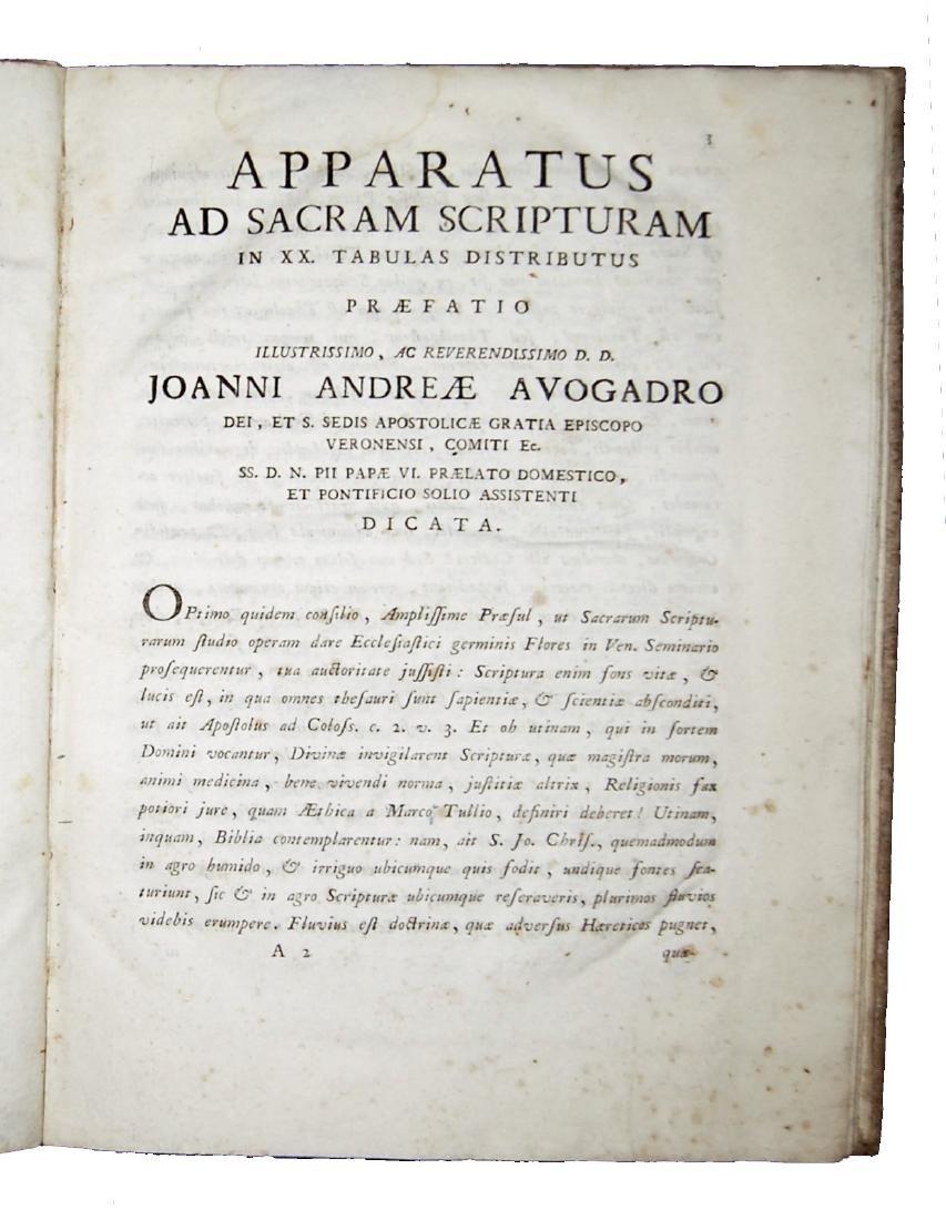 [Bible] Apparatus ad S. Scripturam, 1791 - 2