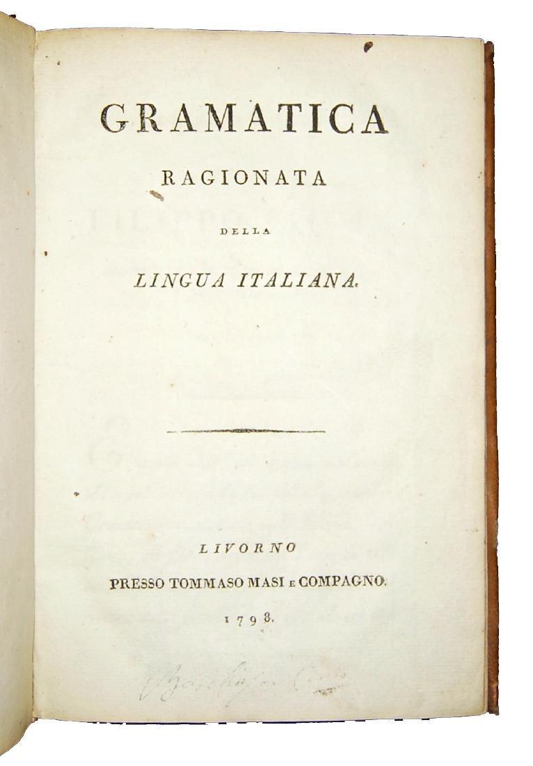 [Grammar] Soave, Grammatica della lingua italiana, 1798 - 2
