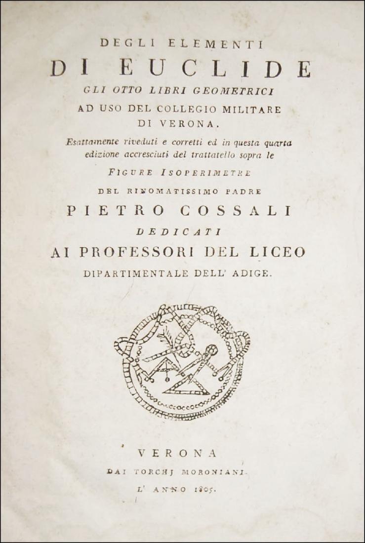 [Geometry] Euclides, Degli elementi di Euclide, 1805