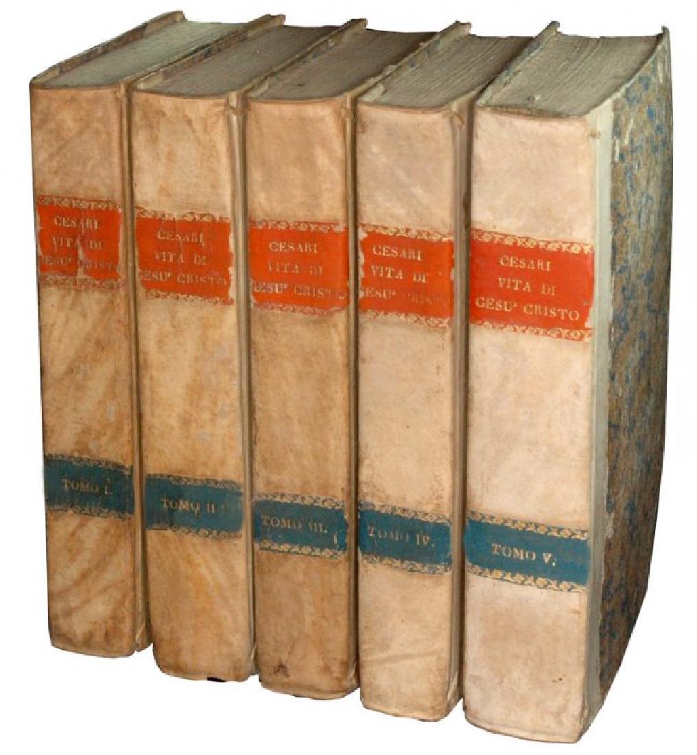 [Jesus' Life] Cesari, Vita di Gesù, 1817, 5 vols