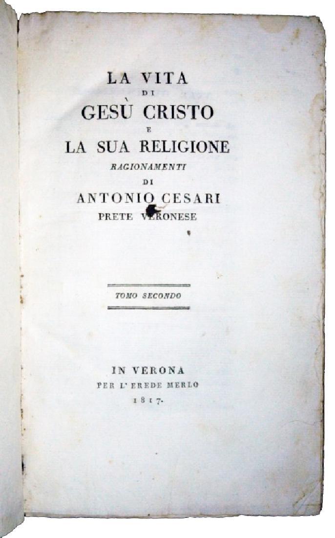 [Jesus' Life] Cesari, Vita di Gesù, 1817, 5 vols - 3