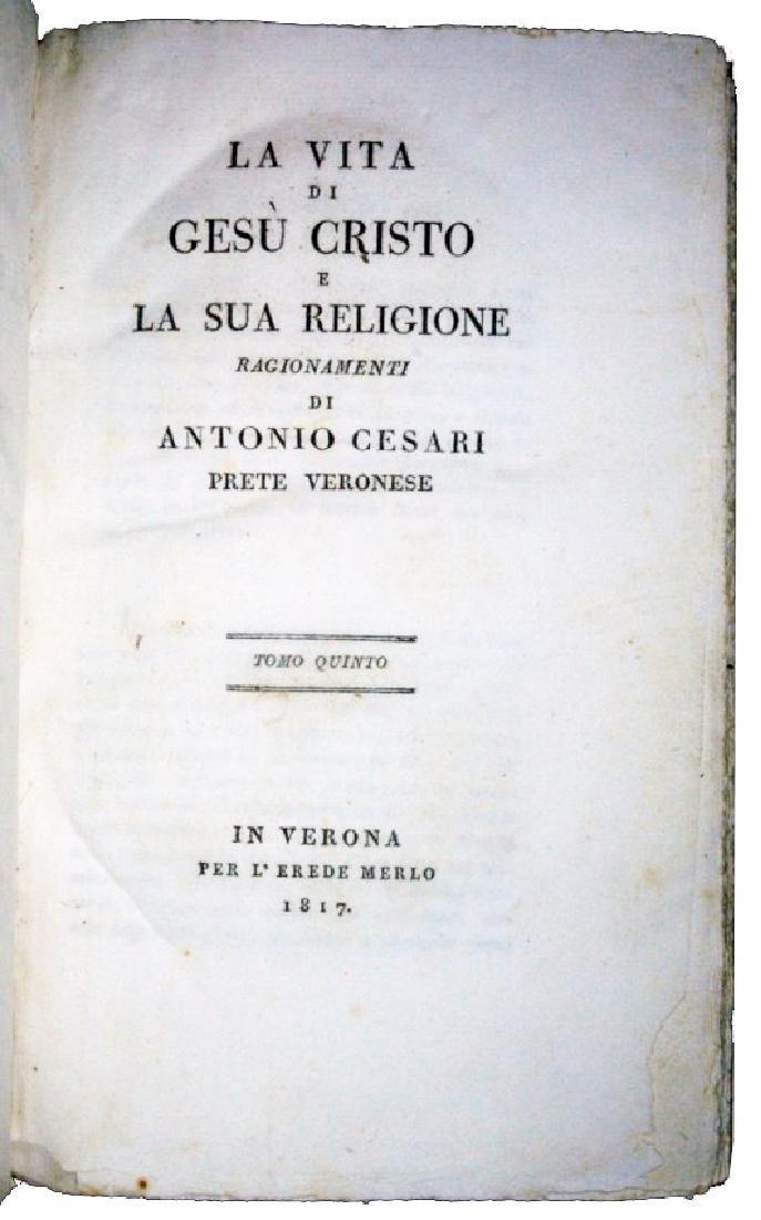 [Jesus' Life] Cesari, Vita di Gesù, 1817, 5 vols - 6