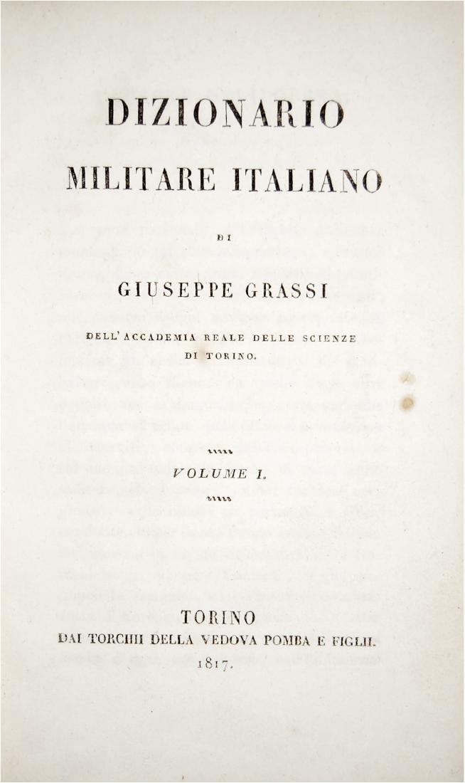 [War Science, Dictionaries] Grassi, Dizionario militare