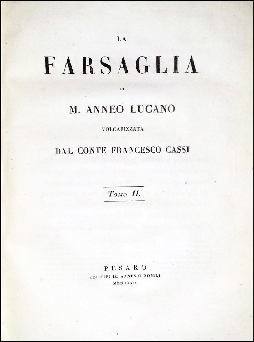 [Roman History, Pesaro imprint] Cassi, Farsaglia, 1826 - 3