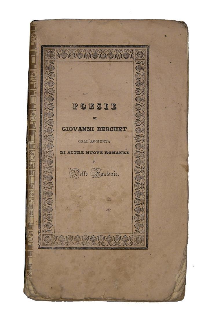 [Poetry] Berchet, Poesie, 1829