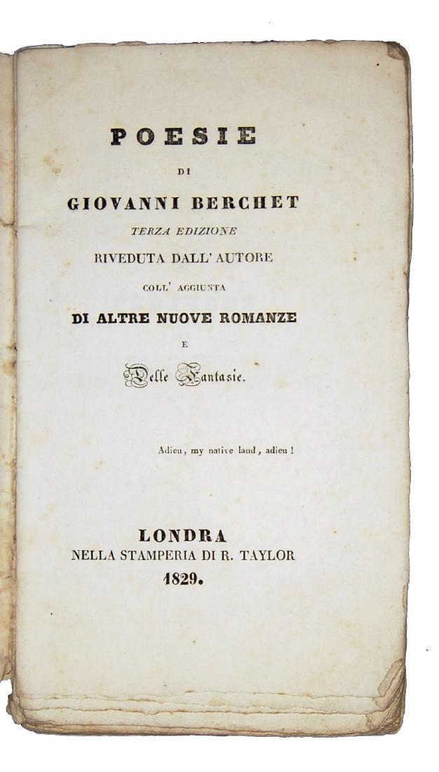 [Poetry] Berchet, Poesie, 1829 - 2