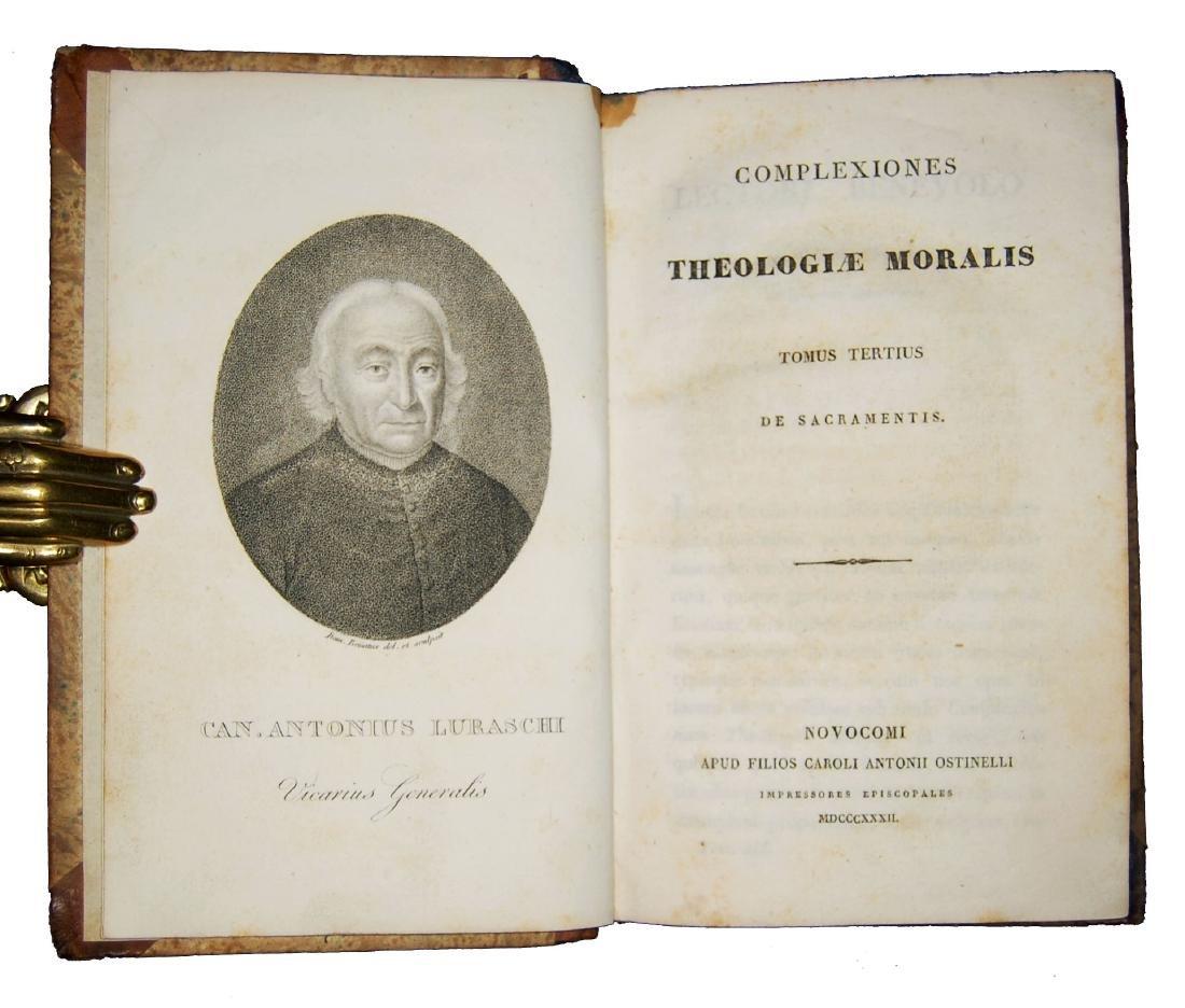 [Theology, Ethics] Luraschi, Theologiae moralis 1831 2v