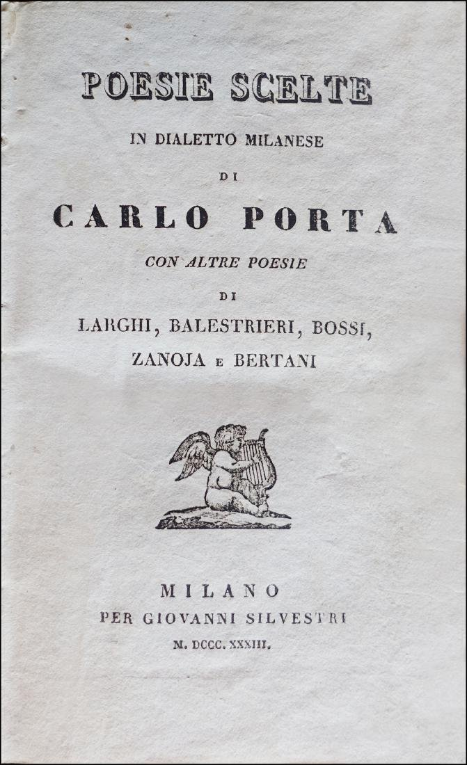 [Dialectal Poetry] Porta, Poesie scelte, 1833