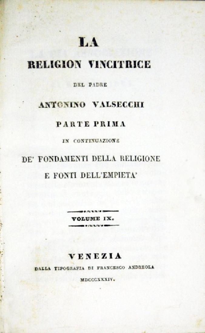 [Catholic Church, Doctrine] Valsecchi, 1834, 5 vols - 2