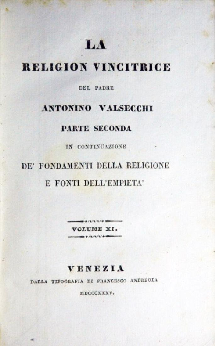 [Catholic Church, Doctrine] Valsecchi, 1834, 5 vols - 4