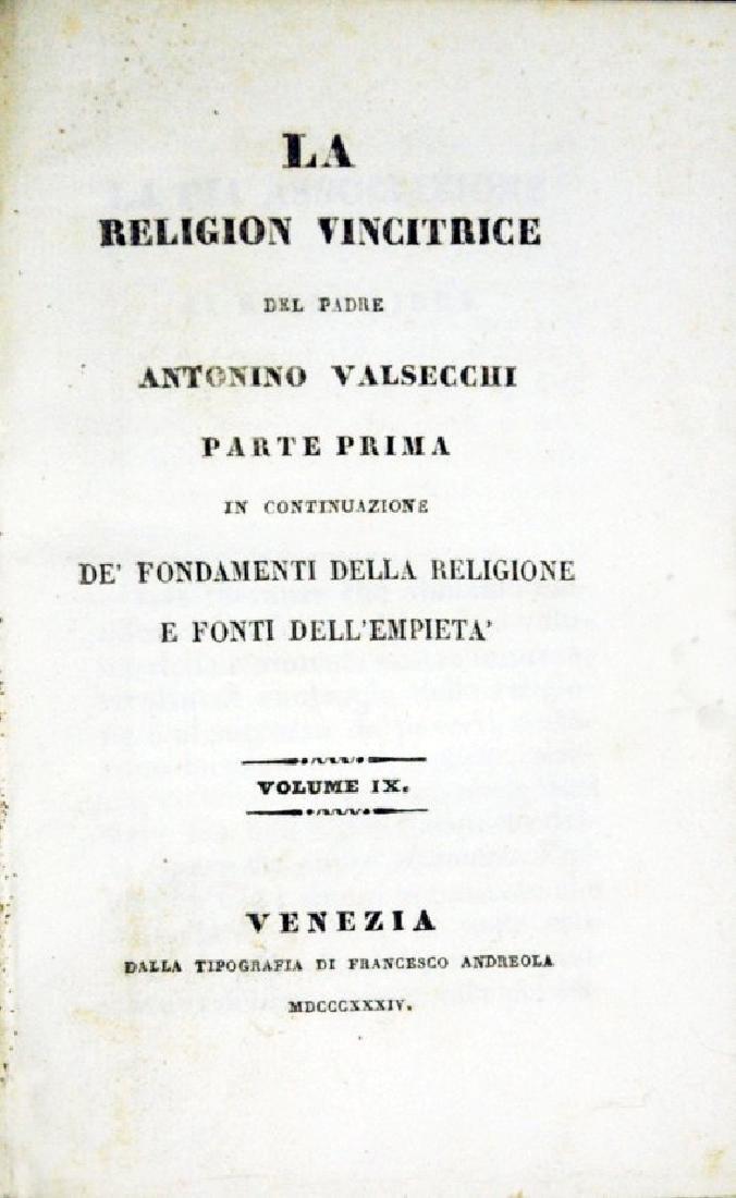 [Catholic Church, Doctrine] Valsecchi, 1834, 5 vols - 6