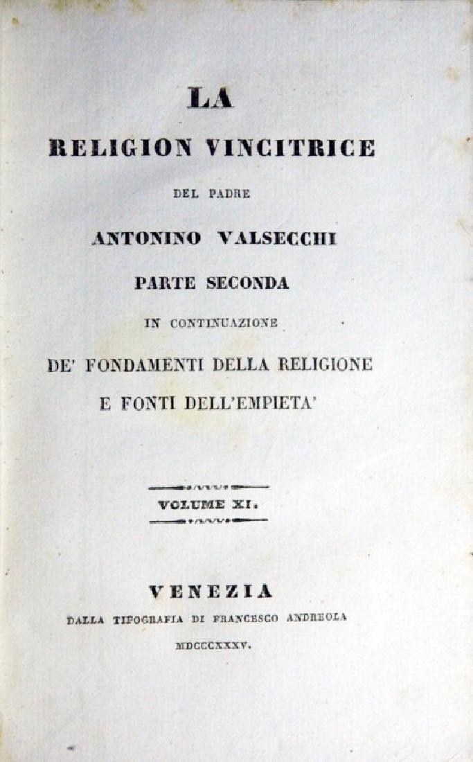 [Catholic Church, Doctrine] Valsecchi, 1834, 5 vols - 7