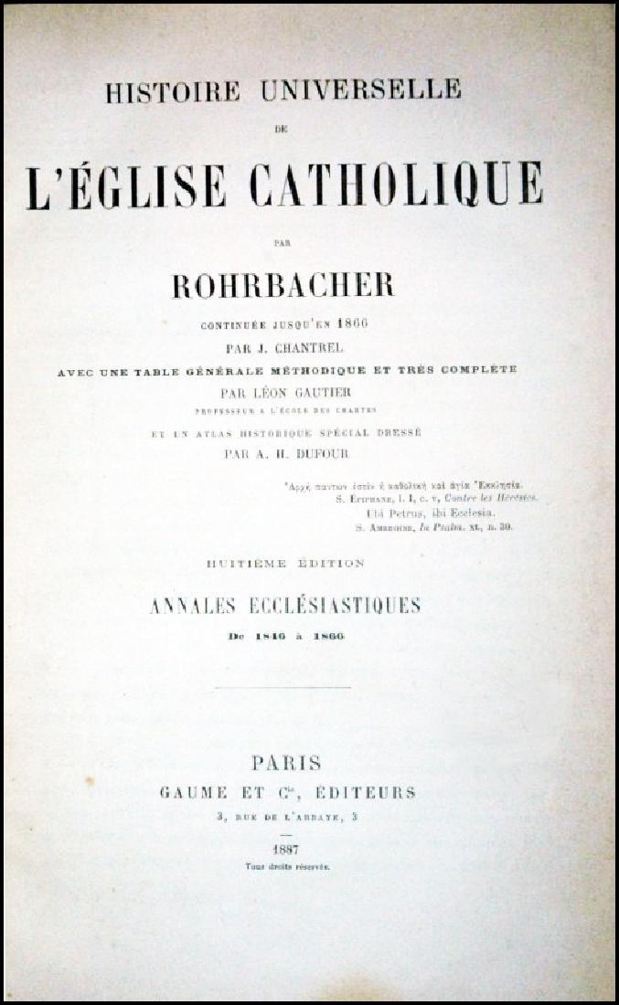 [Church History] Rohrbacher, 5 vols, 2 wks