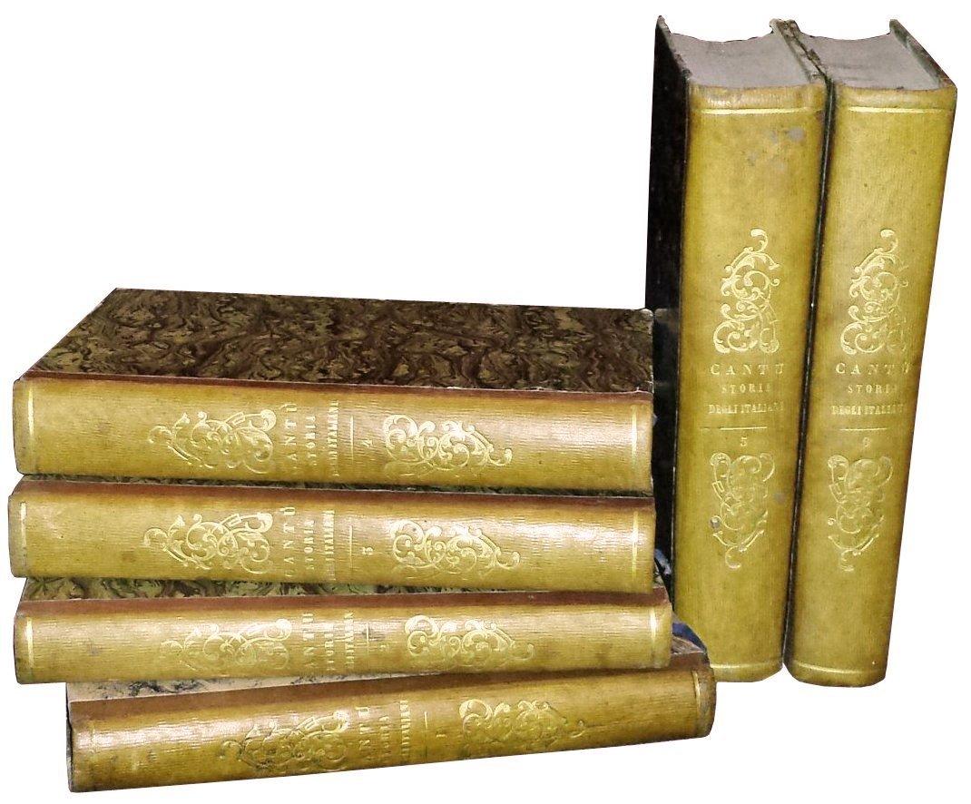 [Italians] Cantù, Storia degli Italiani, 1855, 6 vols