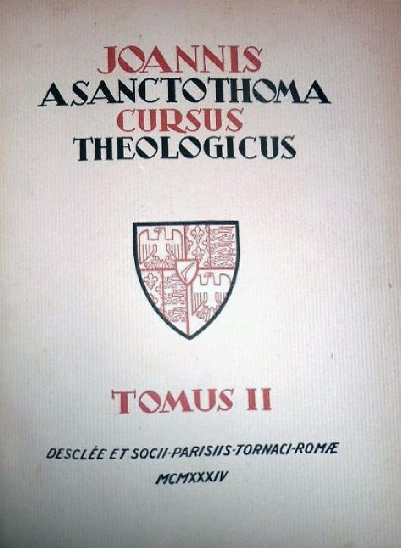[Theology] Poinsot, Cursus, 1931-1964, 4 vols - 3
