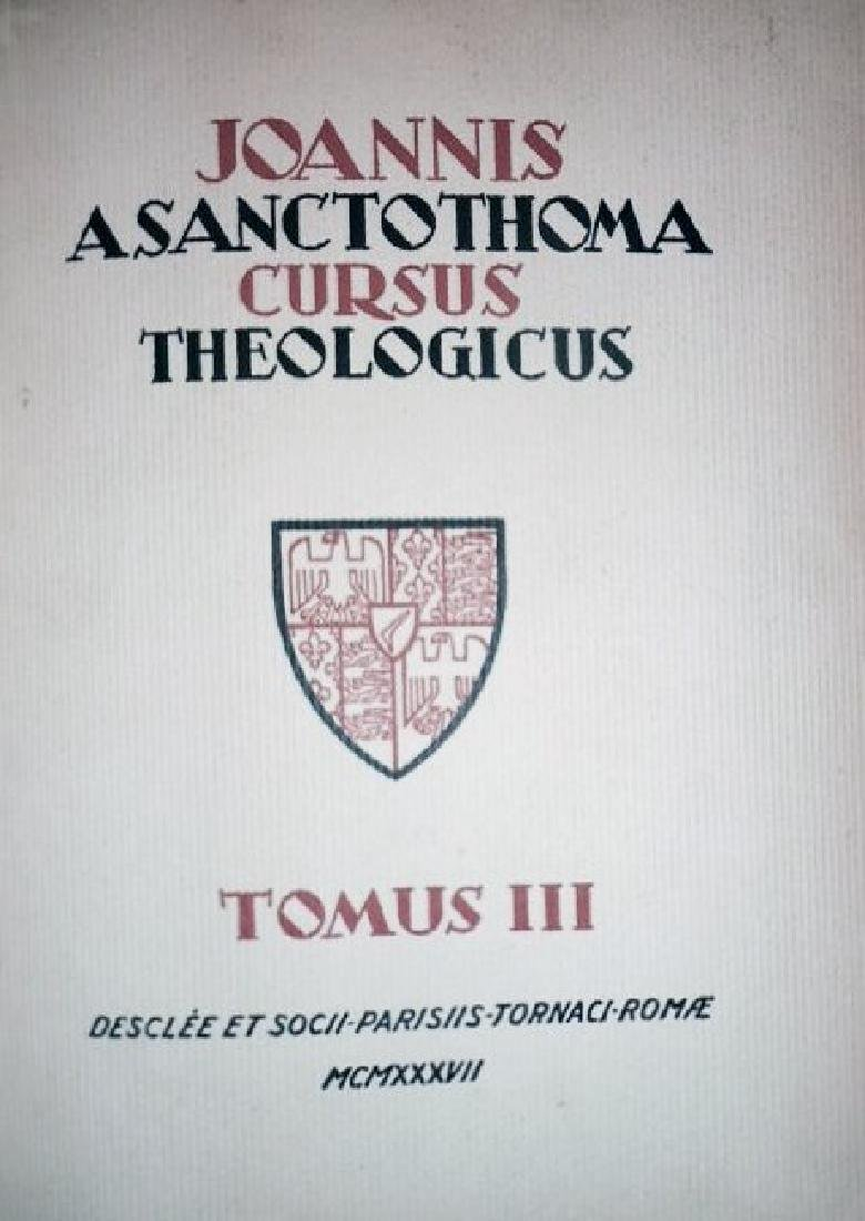 [Theology] Poinsot, Cursus, 1931-1964, 4 vols - 4