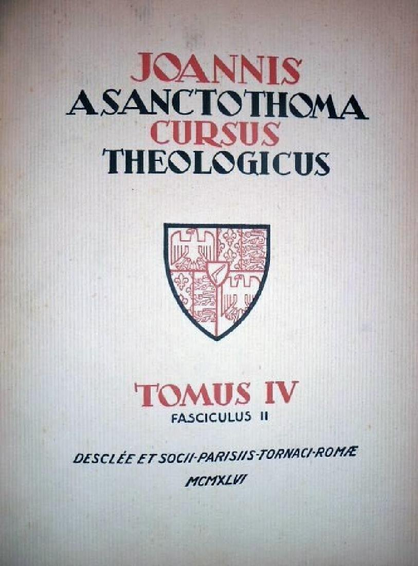[Theology] Poinsot, Cursus, 1931-1964, 4 vols - 5