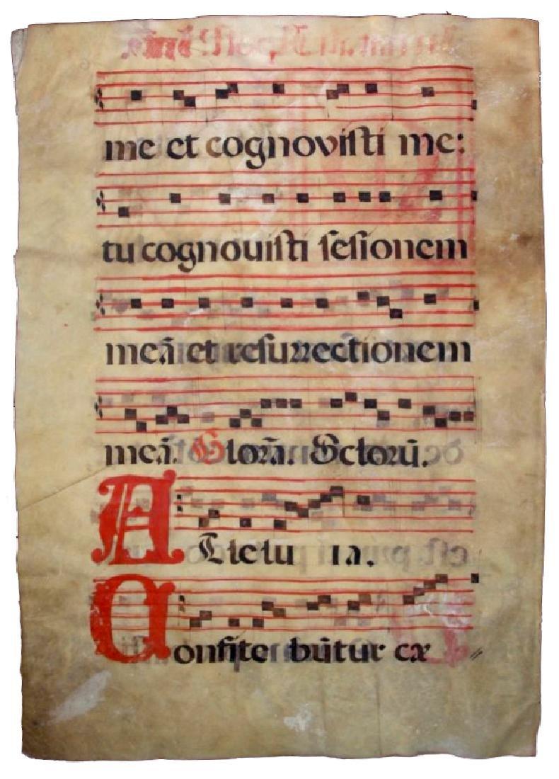[Manuscripts] Antiphonary Bifolium, sec. XVI - 4