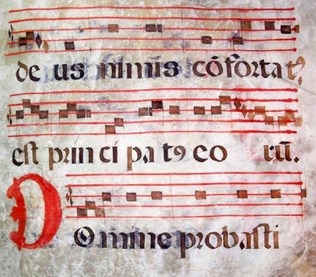 [Manuscripts] Antiphonary Bifolium, sec. XVI - 7