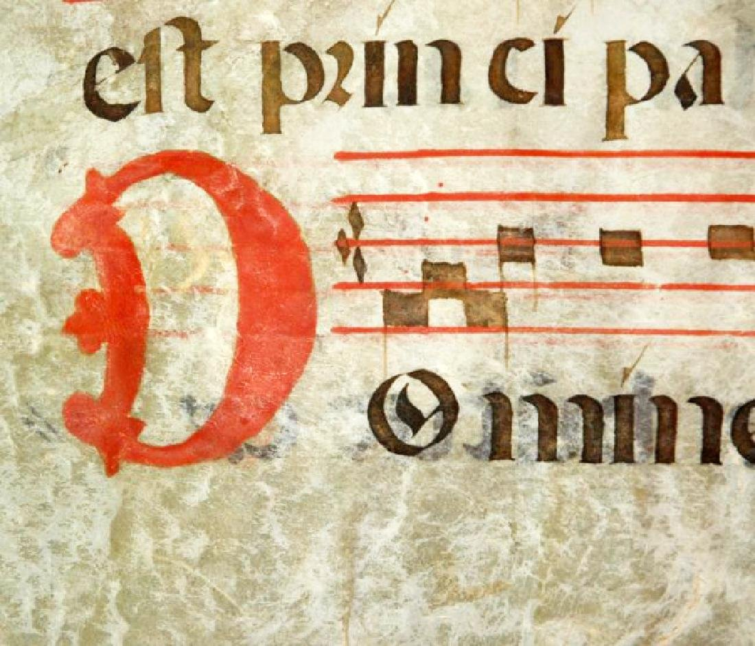 [Manuscripts] Antiphonary Bifolium, sec. XVI - 8