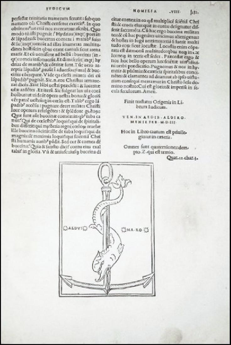 [Aldine, Bible exegesis] Origenes 1503